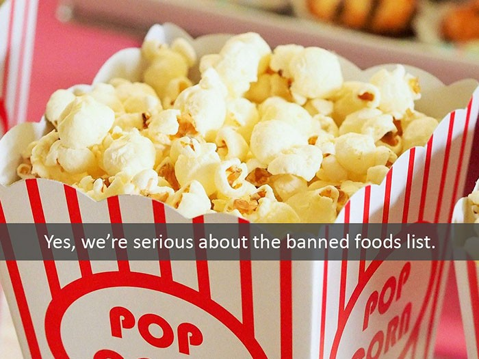 We're Serious About the Banned Foods List